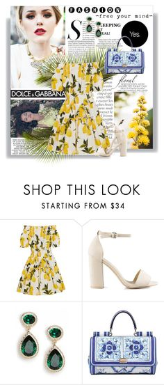 """Eu te amo meu Brasil, eu te amo  Meu coração é verde, amarelo, branco, azul anil  ♫"" by railda-pereira ❤ liked on Polyvore featuring By Terry, Gwyneth Shoes, ASOS, Dolce&Gabbana and Nly Shoes"