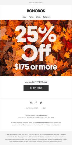 BONOBOS (12/10/15) промо распродажи. Осень, скидки, цифры - ничего лишнего…