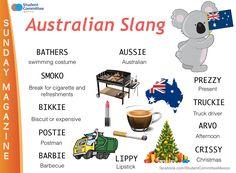' Australian slang ' SUNDAY MAGAZINE