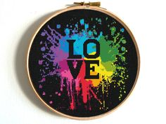 Love cross stitch pattern Watercolor embroidery sampler Heart PDF pattern Wedding DIY gift Colorful Printable pattern Counted xstitch No257 This is a digital item. The PDF file of the pattern will be available for instant download once payment is confirmed. Instant Digital Download: 5