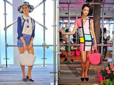 Kate Spade Outlet #KateSpadeHandbags #purseskatespadeoutlet #purseskatespadesale... Milan Fashion Weeks, New York Fashion, Runway Fashion, Fashion Models, Women's Fashion, Fashion Trends, Leopard Handbag, Orange Handbag, Kate Spade Handbags