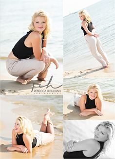 senior pictures and girl poses on the beach by Rebecca Houlihan Photography Beach Poses, Beach Shoot, Photo Summer, Senior Pictures Sports, Senior Photos, Barefoot Girls, Senior Picture Outfits, Senior Girls, Senior 2018