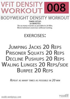 20 minute AMRAP---not sure what these things are, but I can do jumping jacks! Hiit At Home, At Home Workouts, Body Workouts, Circuit Workouts, I Work Out, Going To Work, Metabolic Workouts, Revenge Body, Workout Warm Up