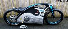 Electric Motorcycle Strom 48 built by Noel Connolly from Flame Art Design FAD, Ireland.