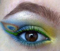 peacock eye makeup...this would be fun for a special occasion like Halloween or a party.