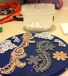 DIY: How to stiffen lace.