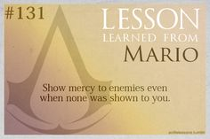 Assassin's Creed Life Lessons from Mario