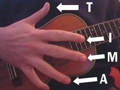 Beginner fingerpicking on ukulele