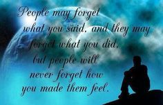 people may forget
