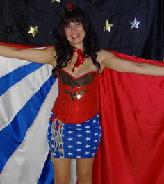 Ever wanted to be Wonder Woman? Well here's your chance to create your ownperfect Wonder Woman cape. Mine is made from red, white and blue chinese satin (100% polyester), some red satinribb…