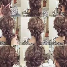 curly medium hair updo