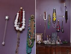 DIY necklace hangers