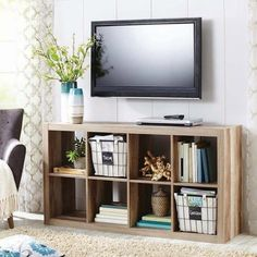 How To Style A Bookcase (plus the television)
