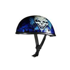 Skull Helmet Blue Half