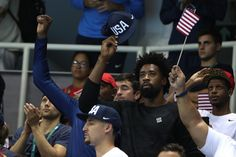 Last night @usabasketball was out cheering on #TeamUSA. Now it's your turn to cheer on them: