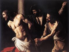 Caravaggio (Bad Boy of the Baroque)  Flagellation of Christ, 1607: