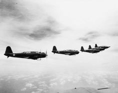 January 17, 1944 - Dauntless SBD scout planes and Avenger TBF torpedo bombers bomb Japanese shipping at Rabaul and sank three ships, damaging a third.