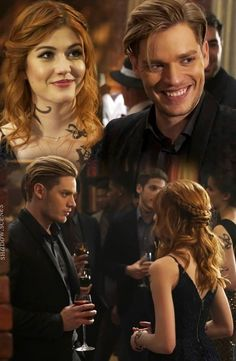 Clary et jace Clary Fray, Clary Et Jace, Shadowhunters Clary And Jace, Shadowhunters Tv Series, Shadowhunters The Mortal Instruments, Jace Wayland, Hunger Games, Dominic Sherwood, Cassandra Clare Books