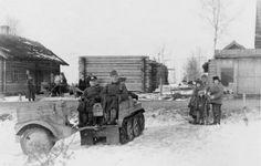 SdKfz 2 Kleines Kettenkraftrad HK 101 light half-track gun tractor.