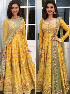 Bridal anarkali suits - VeroniQ TrendsBollywood Style inspired salwar suit,Anarkali Dress in HEAVY BANGLORI SILK with EmbroideryPrachi Desai,Wedding,Pakistan – Bridal anarkali suits Bridal Anarkali Suits, Anarkali Dress, Lehenga Choli, Silk Dupatta, Sabyasachi Suits, Wedding Salwar Suits, Choli Dress, Salwar Suits Party Wear, Long Anarkali