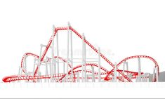 3d roller-coaster stock illustration Roller Coaster Decorations, Coasters, Royalty Free Stock Photos, 3d, Illustration, Coaster, Illustrations