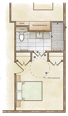 Ada handicap bathroom floor plans for Ada apartment floor plans