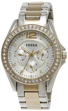 Fossil Women's ES3204 Riley Silver and Gold Tone Watch, http://www.amazon.com/dp/B009BEO9DU/ref=cm_sw_r_pi_awdm_7gtLtb1J88VS3
