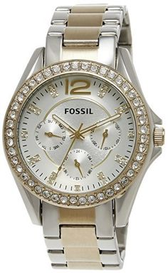 Fossil Women's ES3204 Riley Silver and Gold Tone Watch, http://www.amazon.com/dp/B009BEO9DU/ref=cm_sw_r_pi_awdm_7gtLtb1J88VS3