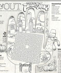 Thanksgiving place mat to print out and color