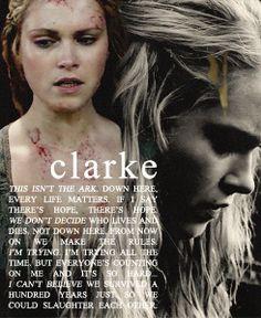 Clarke Griffin (Eliza Taylor)    The 100    Tumblr bellamying