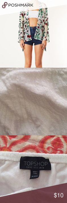 NWOT TOPSHOP Bandeau Features white embroidered design. Never Worn. Fits Like a M/L. Topshop Intimates & Sleepwear Bandeaus