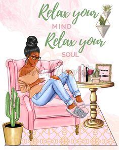 Black Love Art, Black Girl Art, Black Is Beautiful, Black Girl Magic, Art Girl, Black Girl Quotes, Black Women Quotes, Happy Planner Cover, Black Art Painting