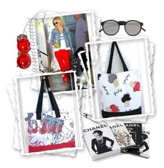 https://www.facebook.com/idesign.com.gr/ Eco Tote Bags by idesign-official on Polyvore featuring Le Specs and Chanel