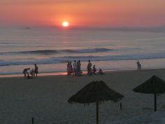 Sunset Beach Atlantic Coast Portugal Costa da Caparica