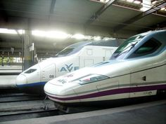 Information on the AVE high-speed train service that connects Madrid to Seville, Cordoba and Zaragoza, Barcelona and Malaga.