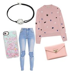 """Untitled #4"" by antoniaroxana ❤ liked on Polyvore featuring beauty, Être Cécile, Alex and Ani and Casetify"