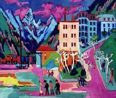 Ernst Ludwig Kirchner - Bahnof Davos