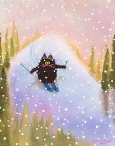 HA!  This looks like me in Vail!!  Fraidy-cat skiing!