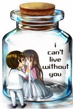 i can't live  without you..