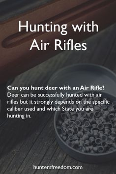 Deer hunters choose air rifles for very specific reasons: Practical reasons – In short, air rifles may be used in areas where firearms are not allowed. Noise reduction – Obtaining a silencer for a firearm in the US is both difficult and expensive a Camping Packing, Camping Hacks, Camping Ideas, Hunting Tips, Deer Hunting, Air Rifle Hunting, Wilson Combat, Waterfowl Hunting, Fishing Tips