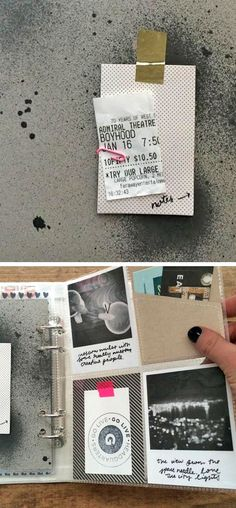 Travel scrapbooking included in Project Life binder. Good ideas for travel mini-scrapbook albums: