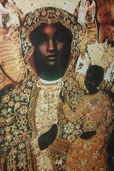 The Black Madonna and Jesus Christ Religious Icons, Religious Art, Black History Facts, Art History, European History, African History, African Art, Oil Canvas, Black Jesus