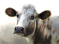 Sold | Lieuwkje the Cow, oil/canvas 12 x 16 inch (30 x40 cm) © 2012 Klimas
