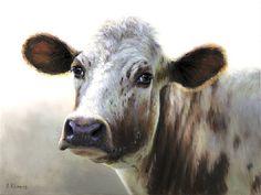 Sold   Lieuwkje the Cow, oil/canvas 12 x 16 inch (30 x40 cm) © 2012 Klimas