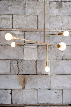 lambert & fils brass light fixture
