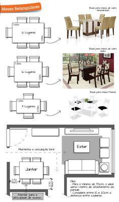 Qual a formato de mesa de jantar ideal?