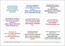 Affirmations-Kärtchen Selbstvertrauen http://www.zeitzuleben.de/newsletter-abonnenten-downloads/