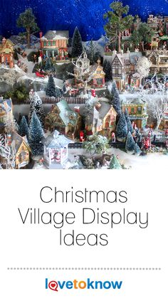 Setting up a Christmas village display is exciting for kids and adults. Your Christmas village display ideas are limited only by your own creativity and there are no firm rules on how to display a Christmas village. Find the winning combination of layouts and accessories you can replicate year after year or create a unique setup each Christmas season.  #Christmas #Christmasdisplay #Christmasdecorations Christmas History, Christmas Music, Christmas Cards, Christmas Decorations, Christmas Tree, Holiday Decor, Christmas Entertaining, Holiday Parties, Christmas Village Display