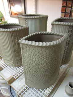 slab vases