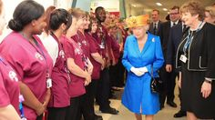 The monarch says she is shocked by the targeting of children, as she visits the injured in hospital.